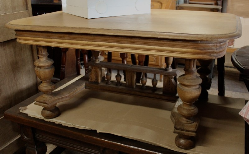 French Henri 11 oak square coffee table.