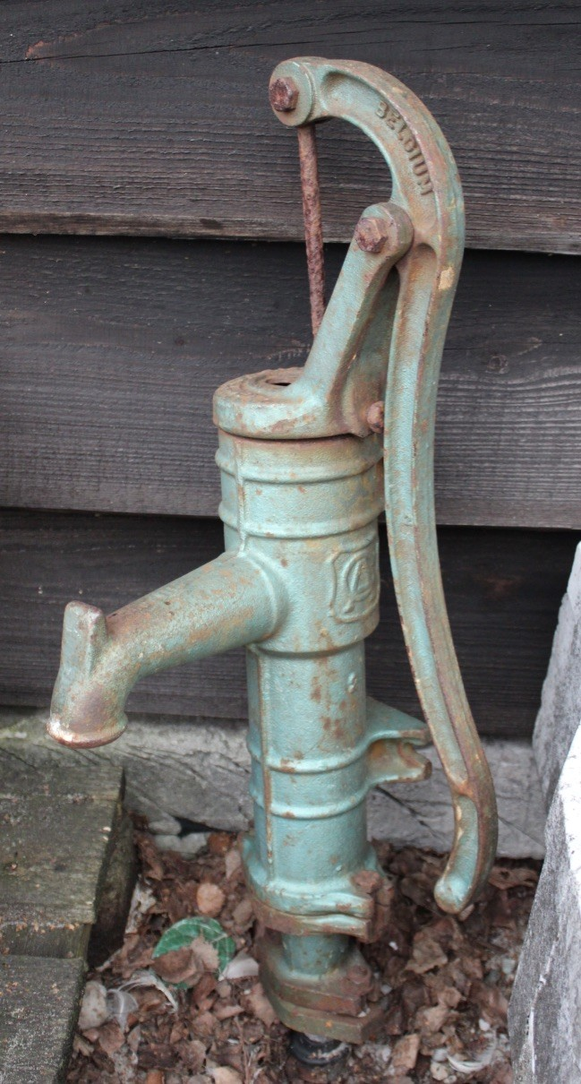 Antique cast iron water pump.