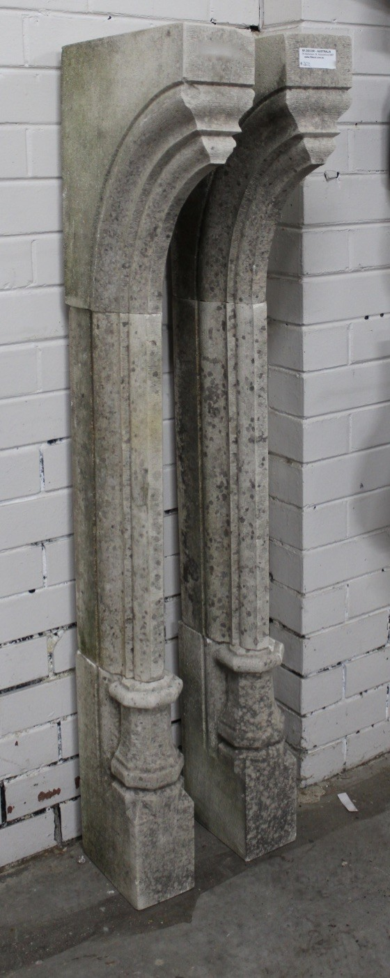 Pair of antique French stone fire place columns.